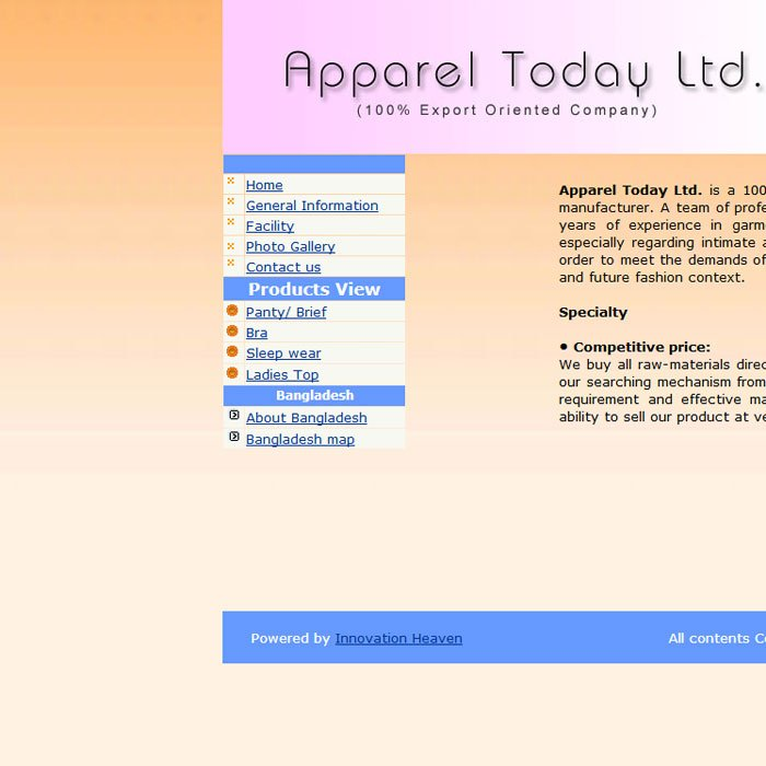 Apparel Today Ltd